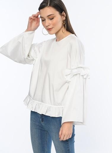 Volanlı Yakasız Gömlek-Koton